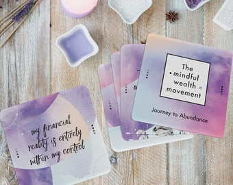 Abundance affirmation card set-Align your thoughts feelings and actions to create wealth & abundance
