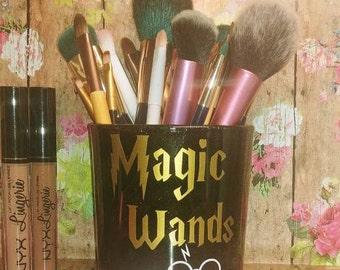 Magic Wands Makeup Brush Holder //Muggle Sticks // Potter Fan Gift