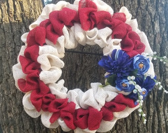 Handmade burlap wreaths,  and size and customized
