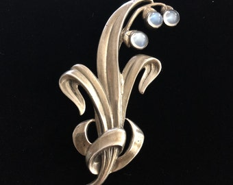Vikingcraft sterling silver pin with moonstones