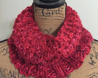Red Soft Warm Chunky Oversized Cowl