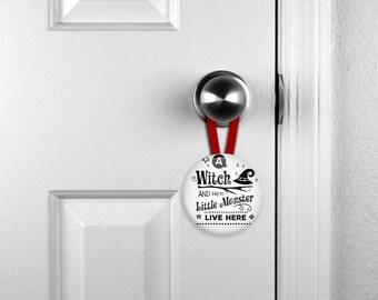 Door Hangers, Hanging Nameplates, Hanging Halloween Ornament, Personalised Nameplate, Personalized, Child's Room Nameplate  (0077)
