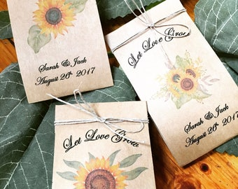 fall wedding favors sunflower seed favors 120 wedding