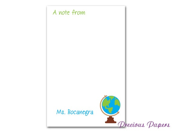 personalized teacher note pads personalized teacher