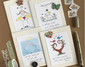 Stationery Variety Pack/4 Pack A2 Stationery Cards/Catholic Stationery