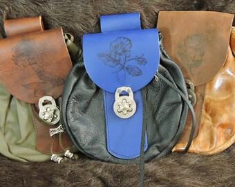 In Stock XLarge Economy Sporran Design Leather Belt Bag / Pouch Medieval, Bushcraft, Costume, Ren Faire, Plain Brown