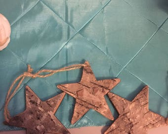 Birch-Like Star Ornaments