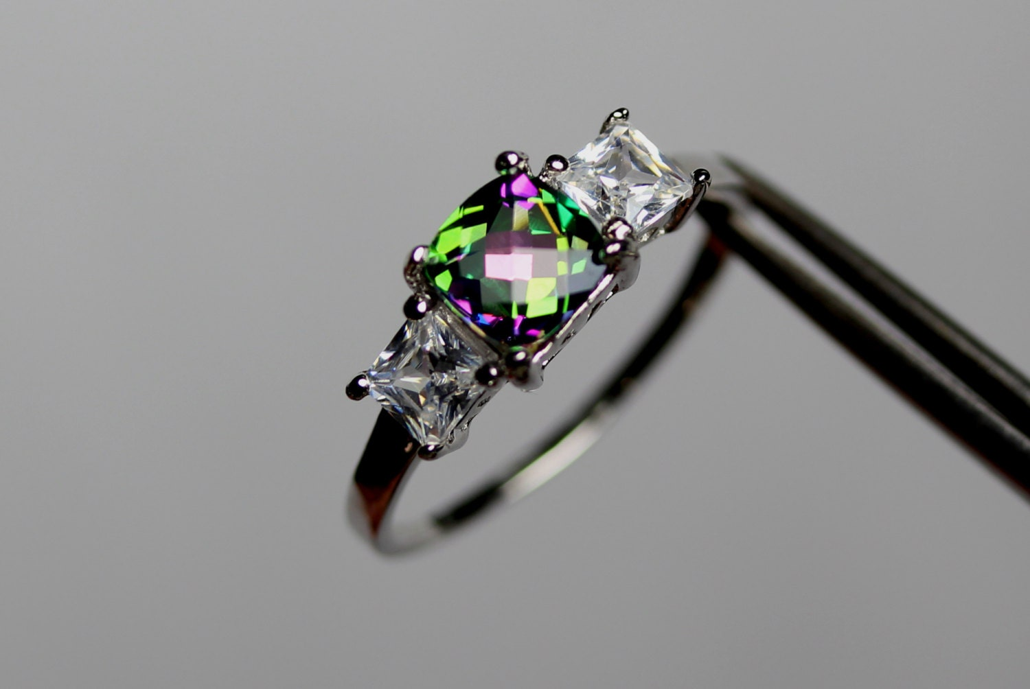 k mystic image star jewelry rings ring topaz rainbow emerald cut main