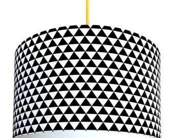 Mini Mountains Monochrome Triangles Handmade Lampshade