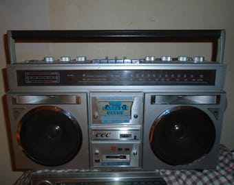 Vintage and Rare CEC-OL7540 Dual Cassette Boombox. Working.