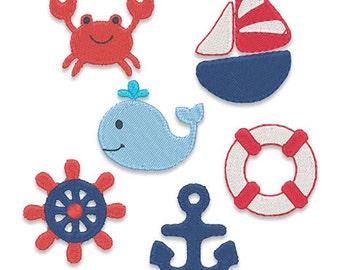 Nautical Mini's Embroidery Design Set - Instant Download
