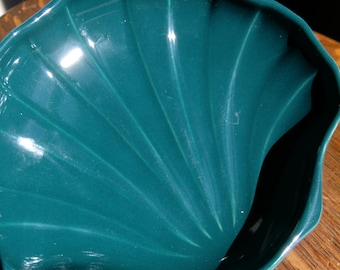 SAVE 25% WITH CODE: SAVE25 Pfaltzgraff Kelly Teal Green Clam Shell Vanity Soap Dish Vintage
