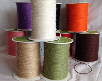 Jute Cord - Very Fine - Brown/White/Green/Blue/Black/Natural/Pink/Purple/Red/Orange - Various Lengths
