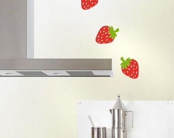Strawberries Wall Decals