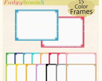 ON SALE frame clip art,Digital frame, rectangle Frames clipart, digital, birthday frames.A-174 , classic frames, png instant download