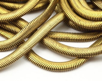Brass Snake Chain, 2 M Raw Brass Snake Chain (4mm) -  ( Z071 )