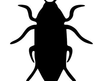 Beetle Silhouette Die-Cut Decal Car Window Wall Bumper Phone Laptop