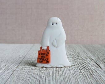 Ghost - Trick or Treat Ghost - Costume - Halloween - Lapel Pin