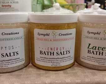 Dead Sea Bath Salts - Mediterranean Sea Bath Salt - Foot Soak
