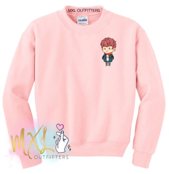 Pocket BTS Rap Monster Spring Day Crewneck Sweatshirt (Design by Yeooongi) cpOIXcsZG