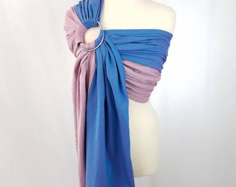 Fluorite Cotton Wrap Conversion Ring Sling Newborn, Infant, Baby, Toddler Carrier - ComfyCutie Hybrid Gathered Pleated Shoulder