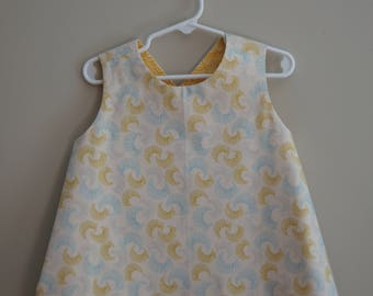 Toddler Reversible Crossback Tunic (size 3T) byJeanne Fabric Creations