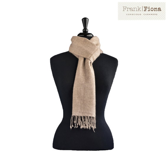 Cashmere scarf pashmina shawl aesthetic clothing knitted scarf chunky knit stole nepal natural wool mindfulness gift gift for men organic 5F