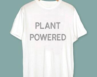 Plant Powered Vegan T-Shirt - Vegan Gift - Vegan Clothing - Gift ideas for vegans - Plant Powered Shirt - Plant Powered Tee - Plant Shirt