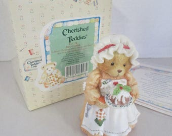 "Vintage Cherished Teddies resin Patience ""Happiness is Homemade"" figurine 1994 Enesco 617105"