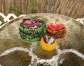 Halloween Nesting bowls Set of 3 - Hand crocheted