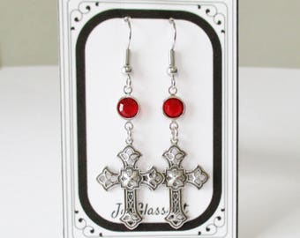Celtic Earrings, Women's Earrings, Outlander Gifts, Silver Earrings, Celtic Cross, Outlander Jewelry, Gift Boxed