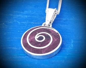 purple pachamama pendant necklace small pachamama peruvian pendant peruvian jewelry spiritual necklace mothers day jewelry mothers symbol