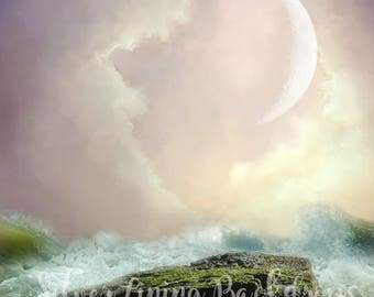 6' x 6'  Vinyl Backdrop - Breaking Sky - Fantasy Series - Magical Mini Sessions - Fairy