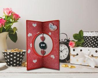 Ticket with Makurokurosuke, Valentine's Day, blacks of the dark, hearts, romantic gift