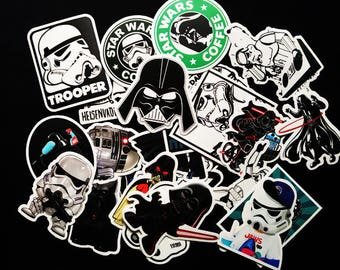 25 Very Cool Star Wars Stickers decal star wars vinyl, star wars car decal, death star sticker, darth vader stickers, starwars stickers