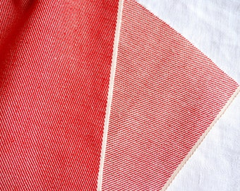 Vintage Red Canvas Fabric - 37 x 34 Plus More