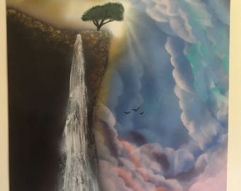 The Cliff Spray Paint Art