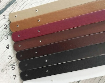 1 pair of clip strap for bag handles PU faux leather