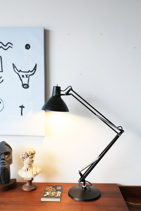 Black Industrial Luxo Task Lamp