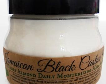 Jamaican Black Castor Oil Sweet Vanilla Hair Souffle *Light Daily Moisturizer w/ Macadamia nut oil Styling Creme for Healthy Growth