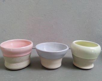 3 Bowls Ceramic