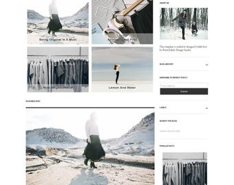 Responsive Blogger Template Design - Premade Blogger Template - Template simple - 2 columns grid Layout - Olympia Theme - Instant Download