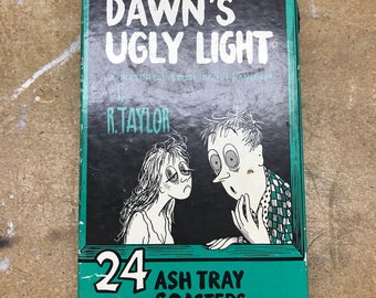 Vintage By The Dawn's Ugly Light Ashtray set Gag Gift