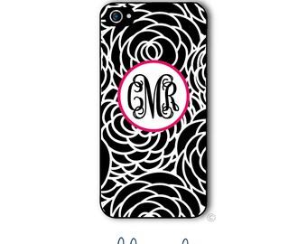 Floral Phone Case Monogram iPhone 6 Case iPhone 6s Case Samsung Galaxy S5 S6 Case iPhone 5 Case iPhone 6 Plus Case iPhone 5c Case Style 256