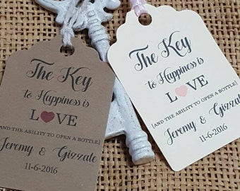 "Personalized Favor Tags 2.5""L x1.8""w, Wedding tags, Thank You tags, Favor tags, Gift tags, Bridal Shower Favor Tags, key tag"
