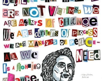Hillary Clinton Poster (Badass Quotes By Badass Women Collection)