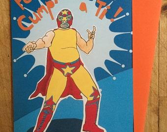 Wrestler Birthday Card
