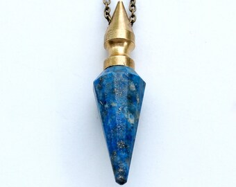 Lapis Lazuli pendulum spike necklace