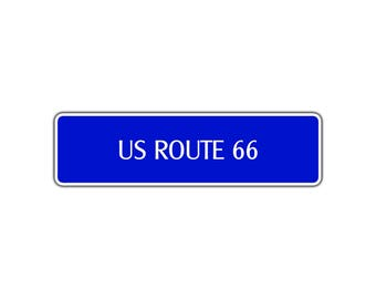 US Route 66 Aluminum Metal Novelty Street Sign US Highway Road Interstate Wall
