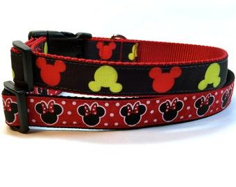 Disney inspired dog collar, Mickey ears collar, mini mouse dog collar, mickey mouse dog collar, pet gift, dog accessory, Bozies Bags